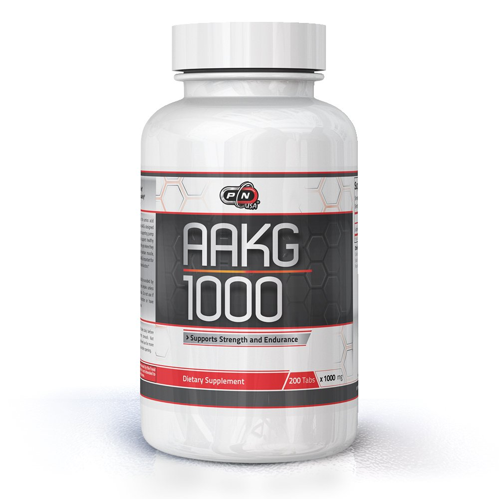 Pure Nutrition USA AAKG Powder Pre Workout L Arginine Conditionally Essential L-Arginine Amino Acid Sports Nutrition Fitness Bodybuilding Weight Lifting Cross Fit Training Supplement (200 Tabs) by Pure Nutrition USA