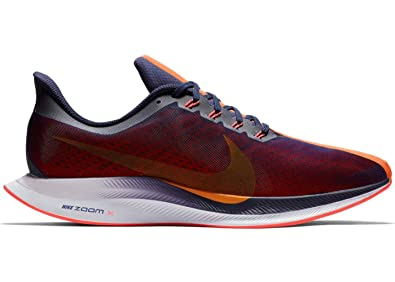 Nike Men's Air Zoom Pegasus 35 Turbo Running Shoes (10.5, Black/Orange)