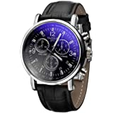 Clearance!Mens Analog Watches ,Canserin Luxury Crocodile Faux Leather Watch