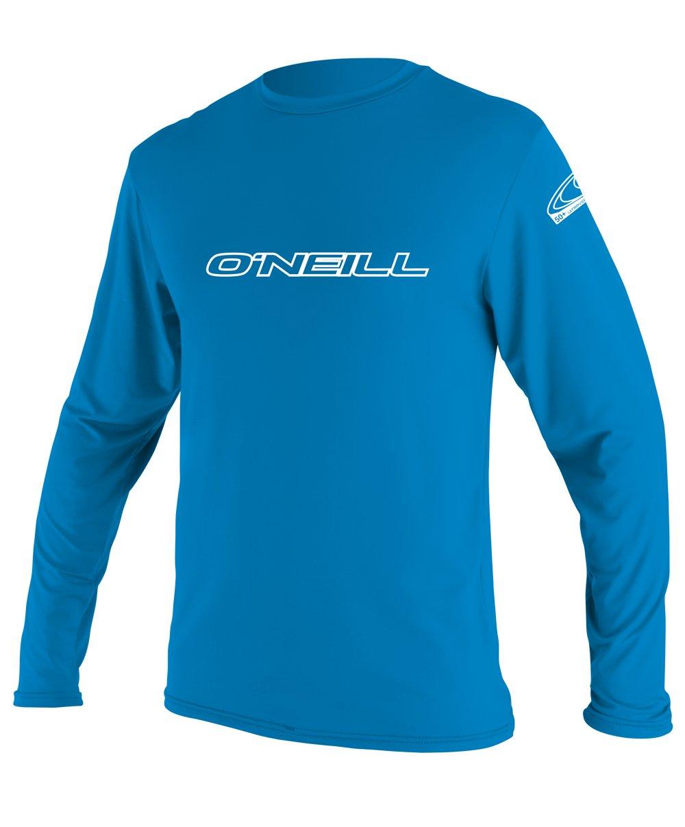O'Neill Youth Basic Skins UPF 50+ Long Sleeve Sun Shirt, Bright Blue, 10