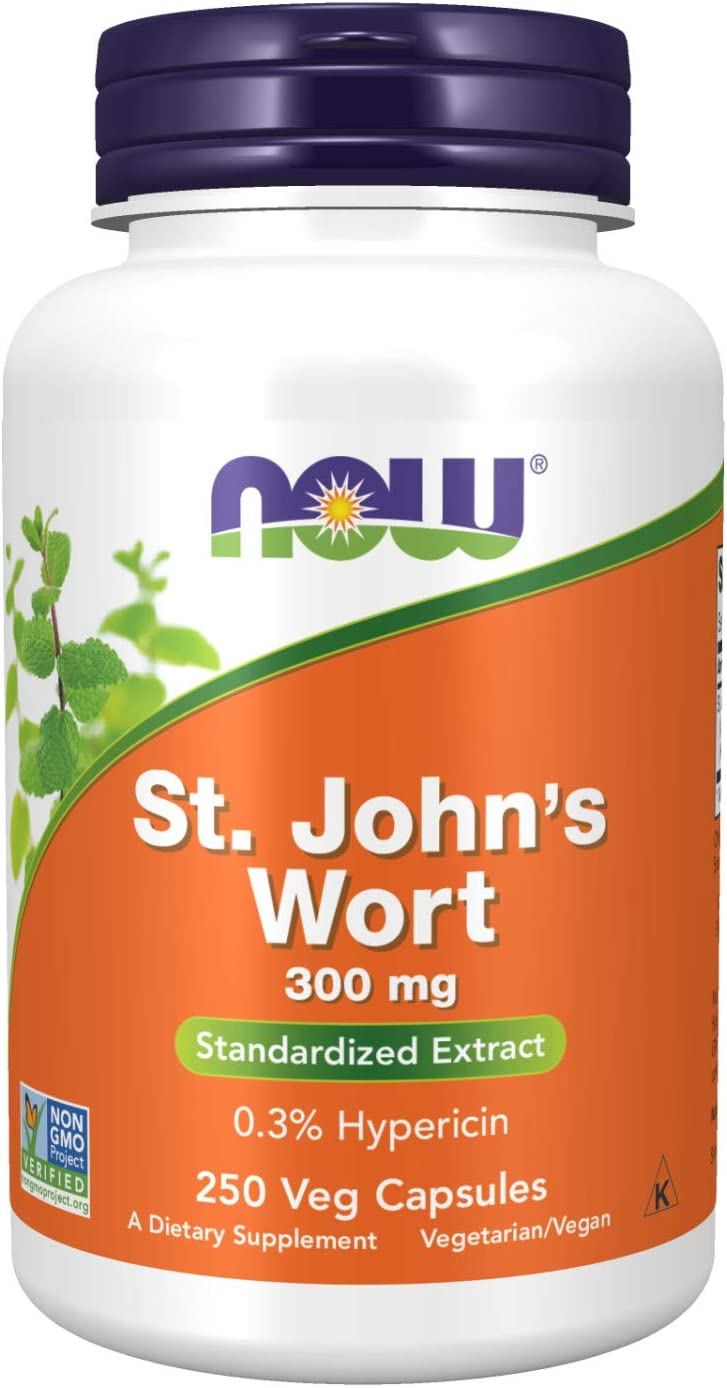 NOW Supplements, St. John's Wort (Hypericum perforatum) 300 mg, Standardized Extract, 250 Veg Capsules: Health & Personal Care