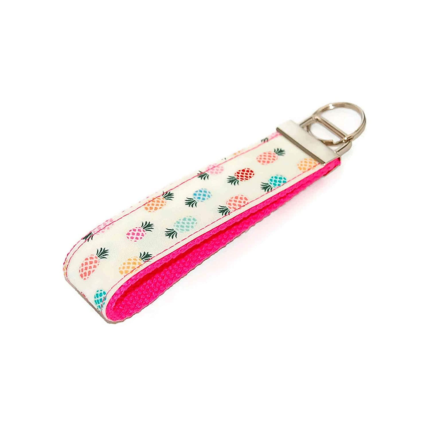 Heavy Cotton Soft Mini key chain key fob with key ring and clasp