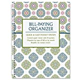 Fresh Patterns Bill Paying Organizer Book, 9'' x 12'', 14 Pocket Pages, Personal Account Book