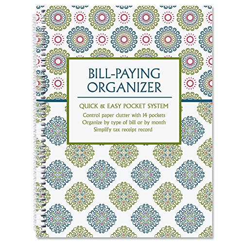 Fresh Patterns Bill Paying Organizer Book 9quot x 12quot 14 Pocket Pages Personal Account Book