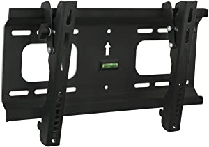 Mount-It! Low-Profile Tilting TV Wall Mount Bracket for 32 to 55 inch LCD, LED, OLED, 4K or Plasma Flat Screen TVs Certified 165 Lbs Load Capacity, 1.8 Inch Profile, Max VESA 400x200, Black