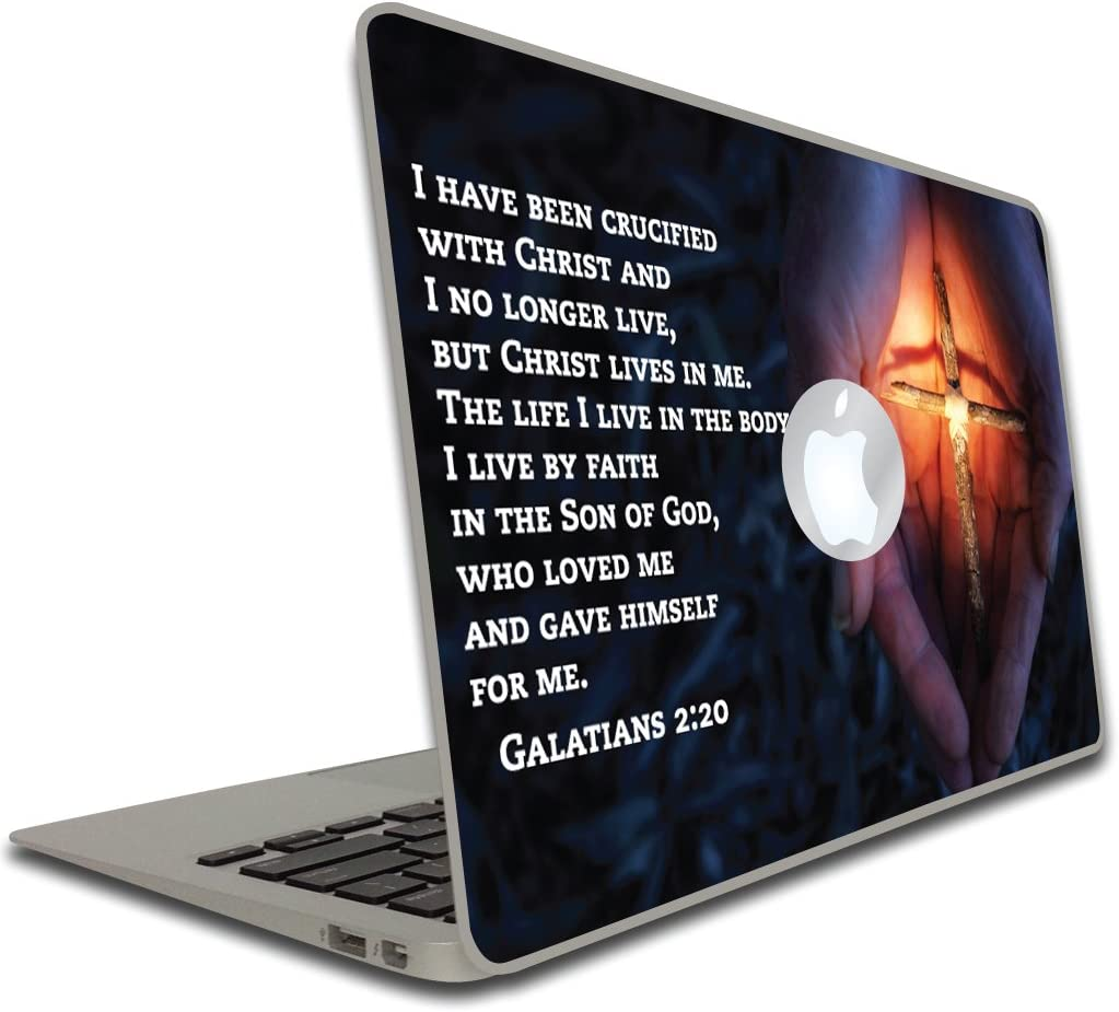 VictoryStore Electronic Device Vinyl Skin Cover: Religious, Galatians 2:20 Removable Skin, 13 Inch, Compatible with MacBook Air or MacBook Pro