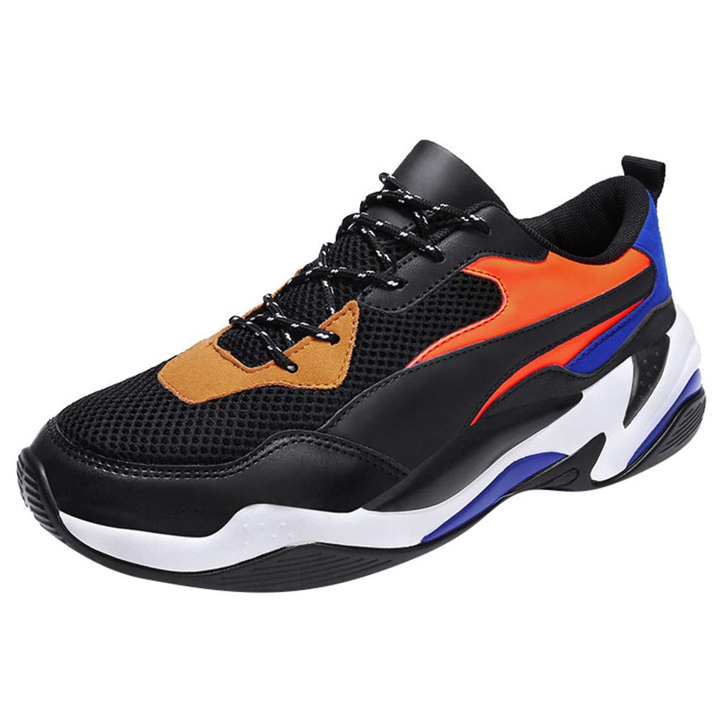 Running Shoes,ONLY TOP Men Sneakers Fashion Lightweight Breathable Mesh Gym Training Shoes Walking Jogging Sneakers Orange