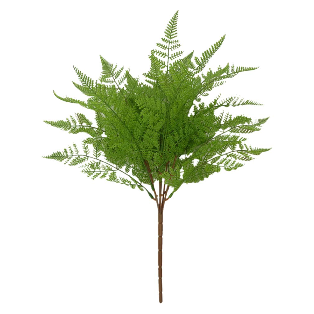 SoundsBeauty 7 Branches Artifical Plant Persia Fern Leaves Home Room Cafe Office Wedding Decoration