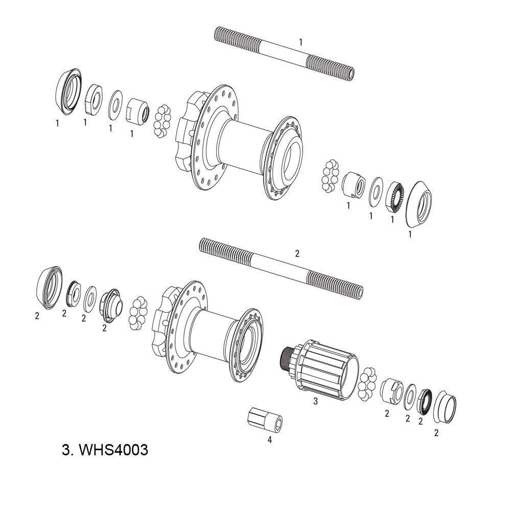 SRAM - Repuesto Nucleo Buje Mth-406 9/10V WHS4003