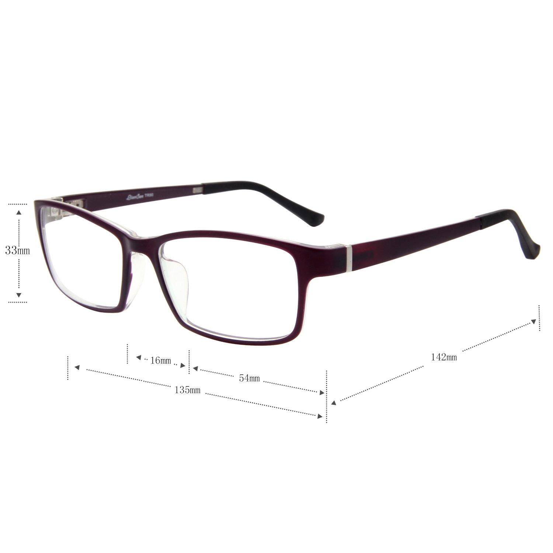 feeda59f2dc Amazon.com  LIANSAN Womens Optical Glasses Mens TR Frames Non Prescription  Eyeglasses TR8630 Red  Health   Personal Care