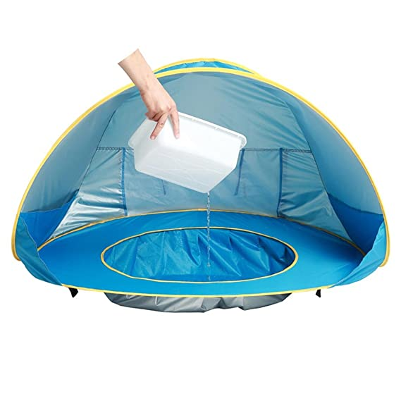 Eighteen U Baby Beach Tent,90% UV Protection Waterproof Portable Pop Up Tent Mini Water Pool Sun Shelters Tent For 6 36 Months Kids