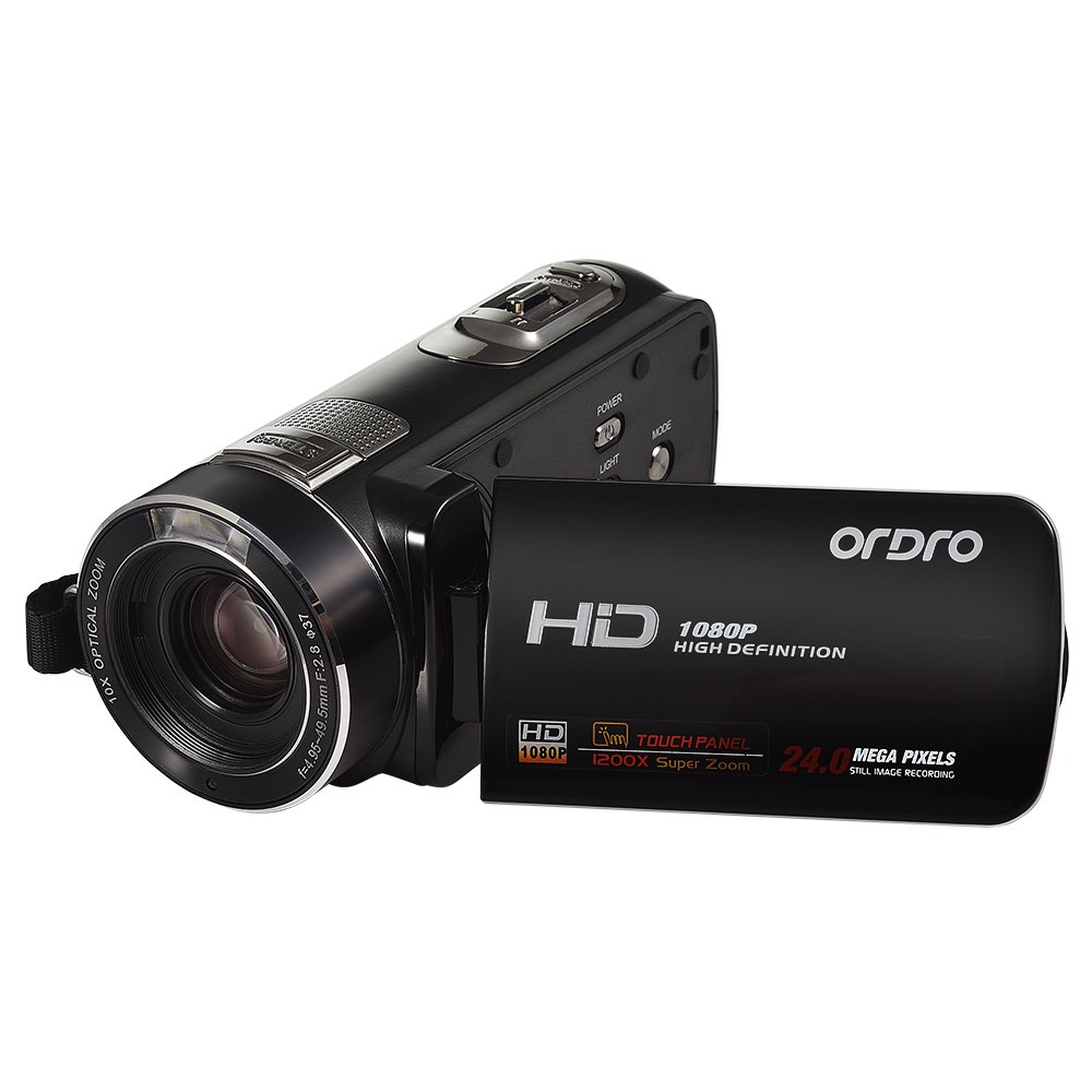 Video Camera,ORDRO HDV-Z80 Portable 1080P Full HD Camcorder with 10X Stabilized Optical Zoom Remote Control by ORDRO
