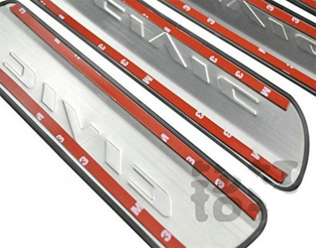 Junyun 4 pezzi in acciaio INOX Batticalcagno soglia della porta d ingresso guardia soglia della porta piastra di copertura per Civic 2006 2007 2008 2009 2010 2011 2012 2013 2014 2015