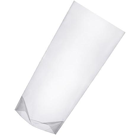 100 Piezas 11 por 5 por 3 Pulgadas Bolsas OPP Transparentes Bolsas de Celofán Bolsas de Dulces de Plástico de Parte Inferior Cuadrada para Galleta, ...