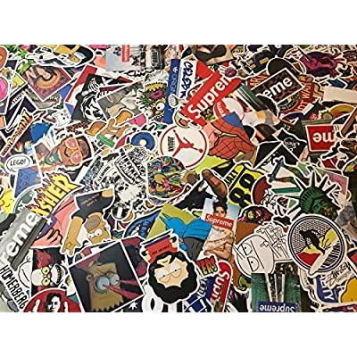 MRX Planet 100 Random Sticker Pack (100-Pcs), Random Stickers Decals Vinyls for Laptop,Kids,Teens,Cars,Motorcycle,Bicycle,Skateboard Luggage,Bumper Stickers Hippie Decals Bomb Waterproof: Clothing