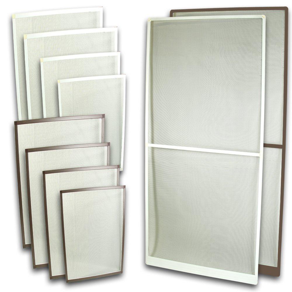 Fliegennetz Fenster Aluminium Rahmen Weiss Größe 80cm*100cm ...