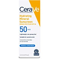 CeraVe Mineral Sunscreen Lotion for Face SPF 50, 73.75 Milliliter