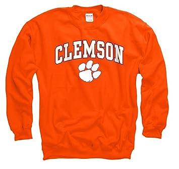 Amazon.com : Clemson Tigers Adult Arch & Logo Gameday Crewneck ...