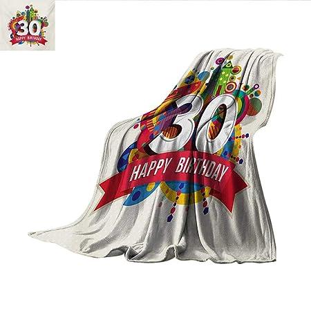 Manta de cumpleaños para 30 cumpleaños con diseño de Velas ...