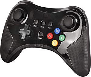 Wireless Controller for Wii U, Bigaint Wireless Pro Controller Bluetooth Gamepad Connected to Wii U Console Motor Vibration Function Dual Analog Joystick (Black)