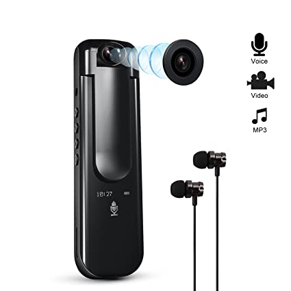Alyduow Grabadora de voz, mini grabadora de voz digital portátil con cámara espía 1080P para