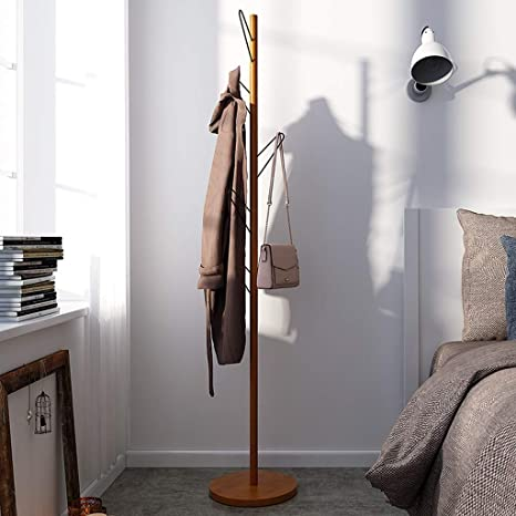 Coat Stand - ♢ YMJ Perchero de Madera Estante de pie ...