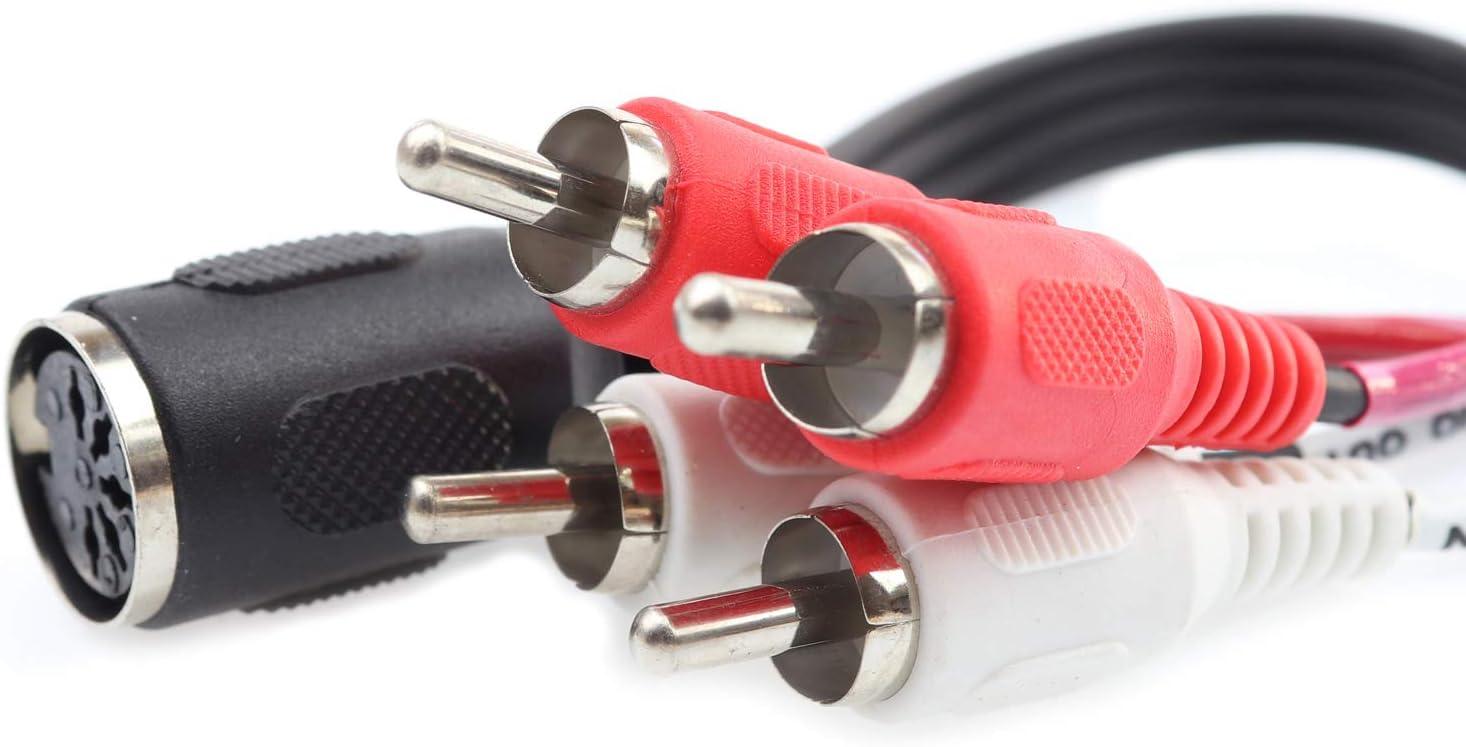 schwarz 5m AUX Kabel Audiokabel Midi-Kabel Diodenkabel DIN Kabel 5-Polig Dioden-Anschlusskabel 2X Diodenstecker DIN-Stecker