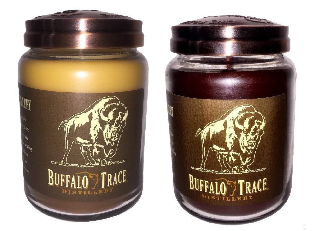 Buffalo Trace Candle Bundle Bourbon Roasted Pecans and Kentucky Bourbon - Candleberry Candle