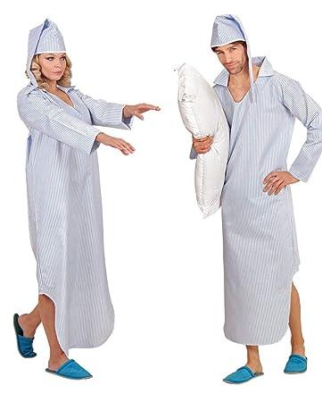 Horror Shop Kostum Nachthemd Mit Streifen Fur Fasching M L Amazon