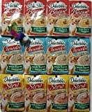 Delectables Ultimate with Veggie Variety Pack - (12) Total 1.4 oz Pouches. (4) Bisque with Tuna & Veggies, (4) Chowder with Tuna & Veggies, (4) Stew with Chicken & Veggies