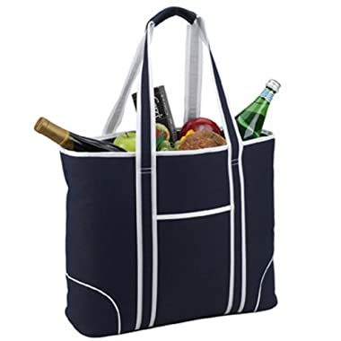 Picnic at Ascot Extra Large Insulated Cooler Bag - 30 Can Tote - Navy