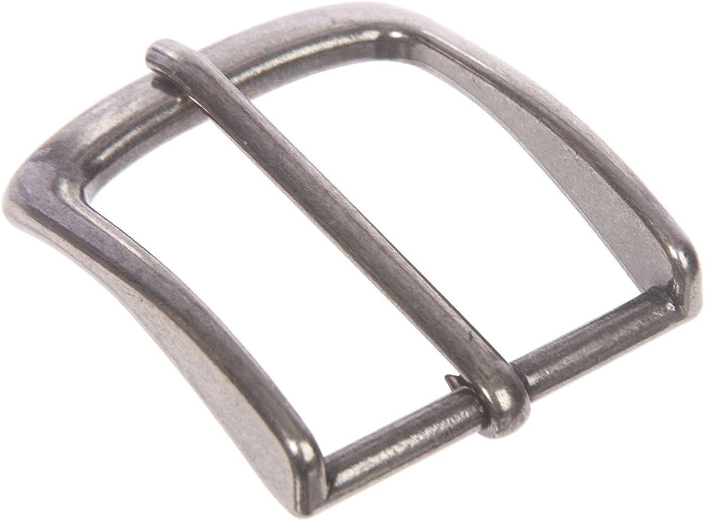 MONIQUE Men Single Prong Rectangular Solid Brass 1.5 Belt Replacement Buckle