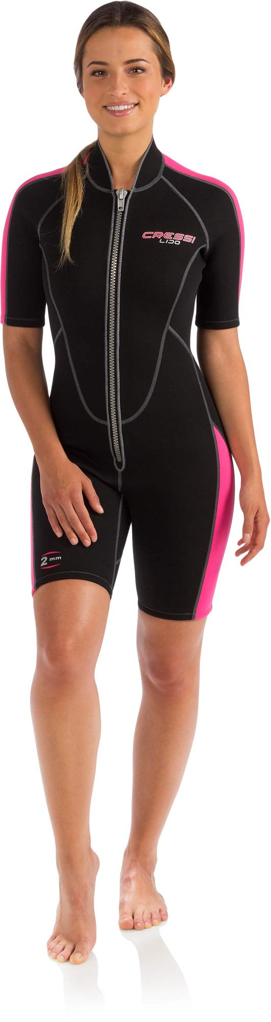 Cressi Lido 2mm Lady, Black/Pink, 4/L by Cressi