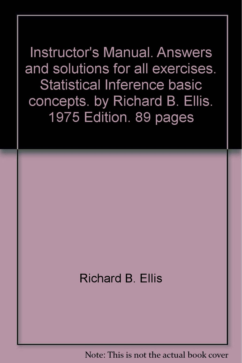 Instructor S Manual Answers And Solutions For All Exercises