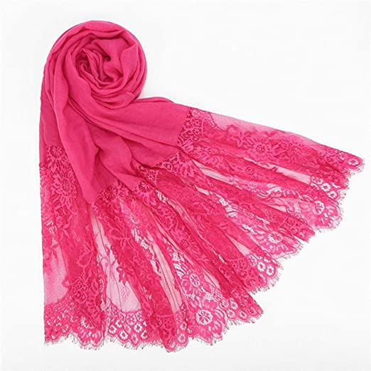 TKHCOLDM Bufandas de Mujer, pañuelo de Encaje, Bufanda de algodón ...
