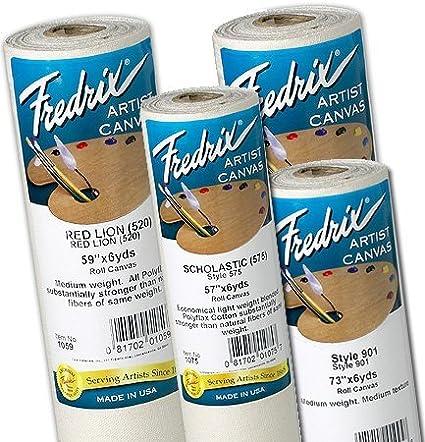 roll Fredrix Washington Square Style 500 Polyflax Canvas 59 in x 6 yd