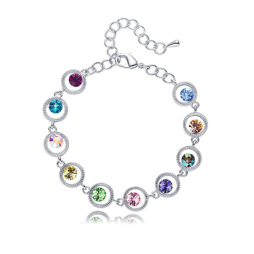 EleShow Women Bracelets Tennis Bangle Bracelets for Girls Crystals from Swarovski (A:Tennis Bangle Bracelets)