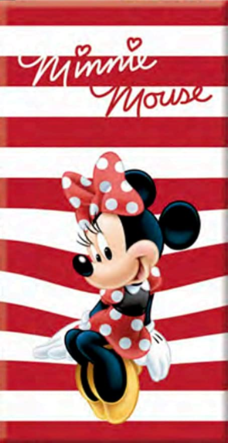TEXTURAS SUN&SURF Toalla Playa Oficial DISNEY MINNIE MOUSE STRIPES RED 140X70 cms