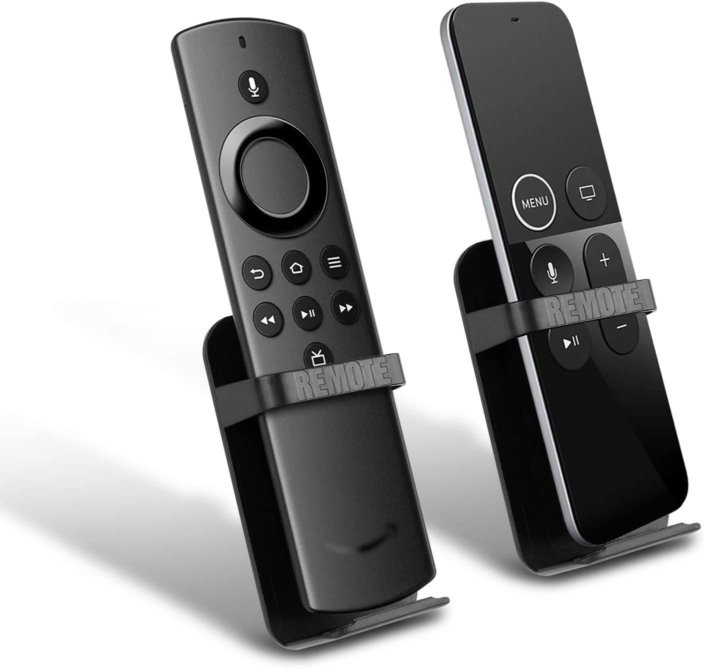 TV Remote Holder Replacement for Fir TV Stick Lite/TV Stick 4K / 1st and 2nd Gen TV Stick/TV Cube/Alexa Dot Voice/Apple TV/Siri Remote Small for Bed 2-Pack