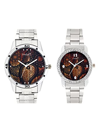 Analog Stainless Steel Watches for Lovely Couple -Eve-660-689