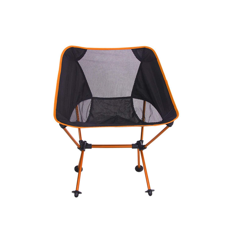 C  AQUYY Léger, Chaise De Pêche - Pliable, portable, avec Sac en Cuir, Randonnée, Pique-Nique, Plage, Croquis, Camping en Plein Air (Portant 300 Kg)
