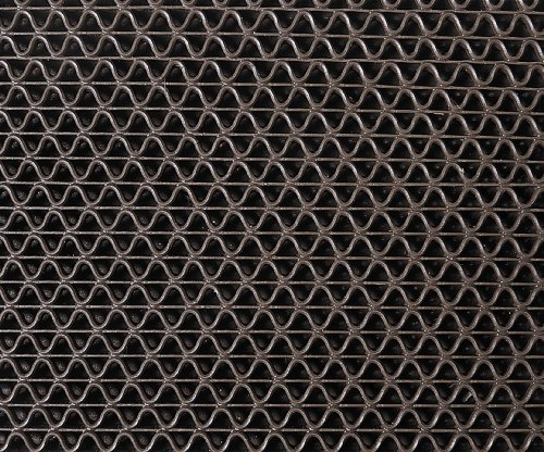 (3M Nomad Z-Web Medium Traffic Scraper Matting 6250, Brown, 4' x 6')