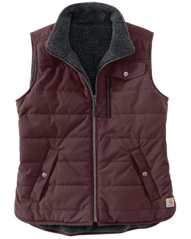 Carhartt Women's Utility Sherpa Lined Vest, Deep Wine, Medium by Carhartt