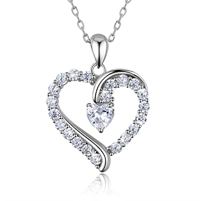 Amazon 925 sterling silver heart necklace billie bijoux you 925 sterling silver heart necklace billie bijoux you are the only one love aloadofball Gallery