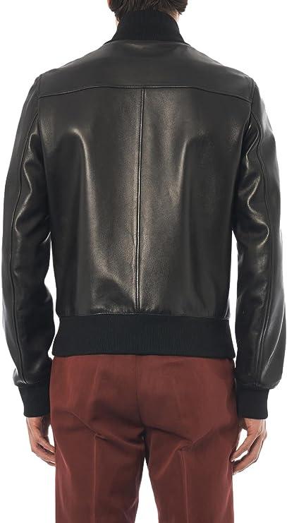 Mens Genuine Cow Leather Jacket Slim Fit Motorcycle Jacket LTC150