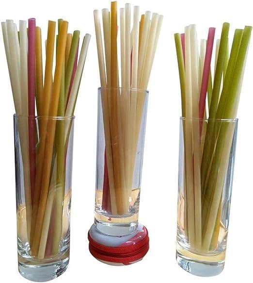 12PCS Biodegradable Pajas Alternativa Al Plástico Paja De Papel ...
