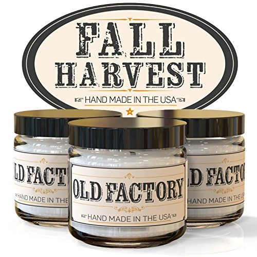 Scented Candles - Fall Harvest - Set of 3: Pumpkin Spice, Cranberry, and Autumn Leaves - 3 x 4-Ounce Soy Candles - Each Votive Candle is Handmade in the USA with only the Best Fragrance Oils