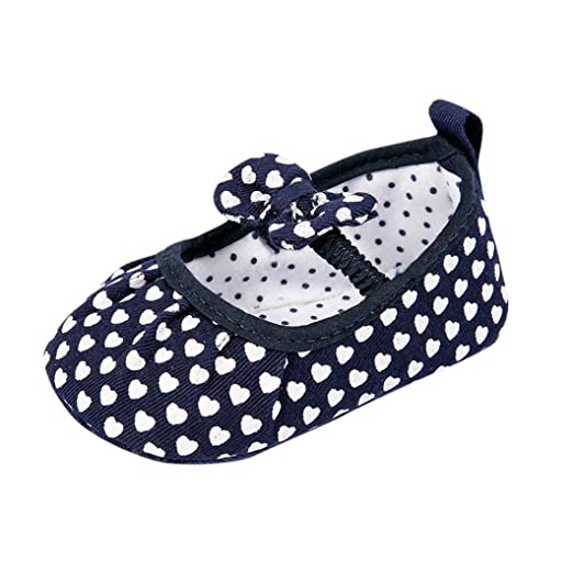 151d481fbd82f Amazon.com: LNGRY Shoes, Toddler Kids Baby Girls Heart Bowknot Soft ...