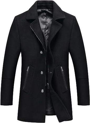 TALLA XS. Mirecoo - Abrigo - Chaqueta Guateada - Básico - Cuello Mao - Manga Larga - para Hombre