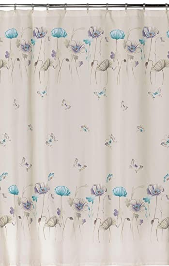 purple and turquoise shower curtain. Creative Bath Products Inc  S1072LIL Garden Gate Shower Curtain Purple Amazon Com